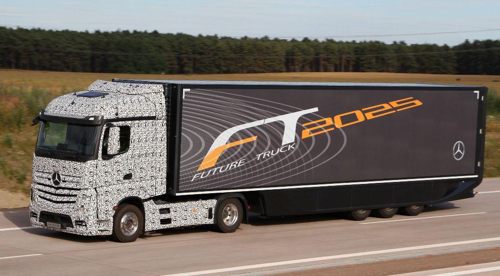 mercedes benz shows its future truck for 2025. Black Bedroom Furniture Sets. Home Design Ideas