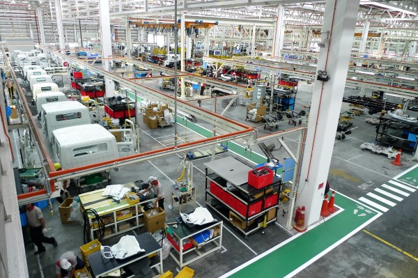 View of the assembly lines at Hino Motors Manufacturing plant in Sendayan
