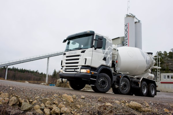 Scania G 420 8x4 mixer. Södertälje, Sweden. Photo: Dan Boman