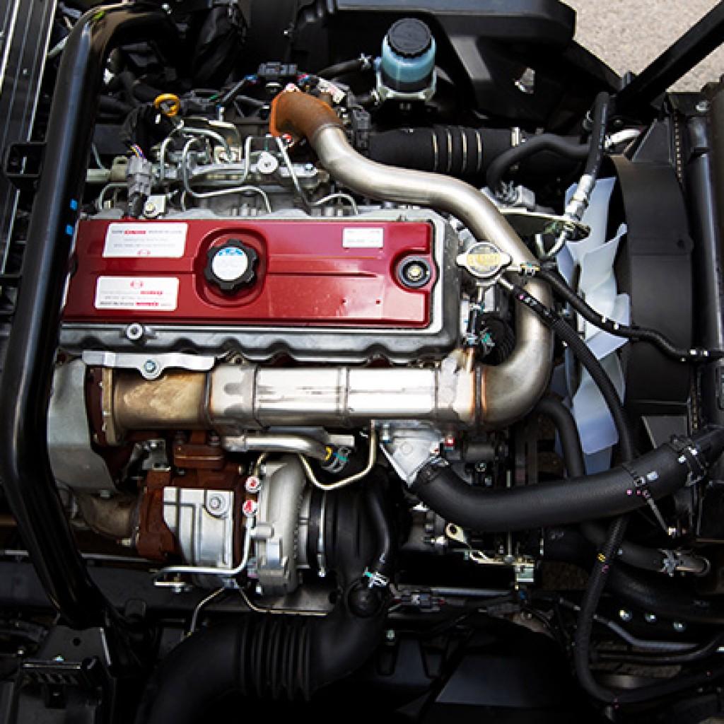 2011 Hino 300 Series Hybrid diesel engine