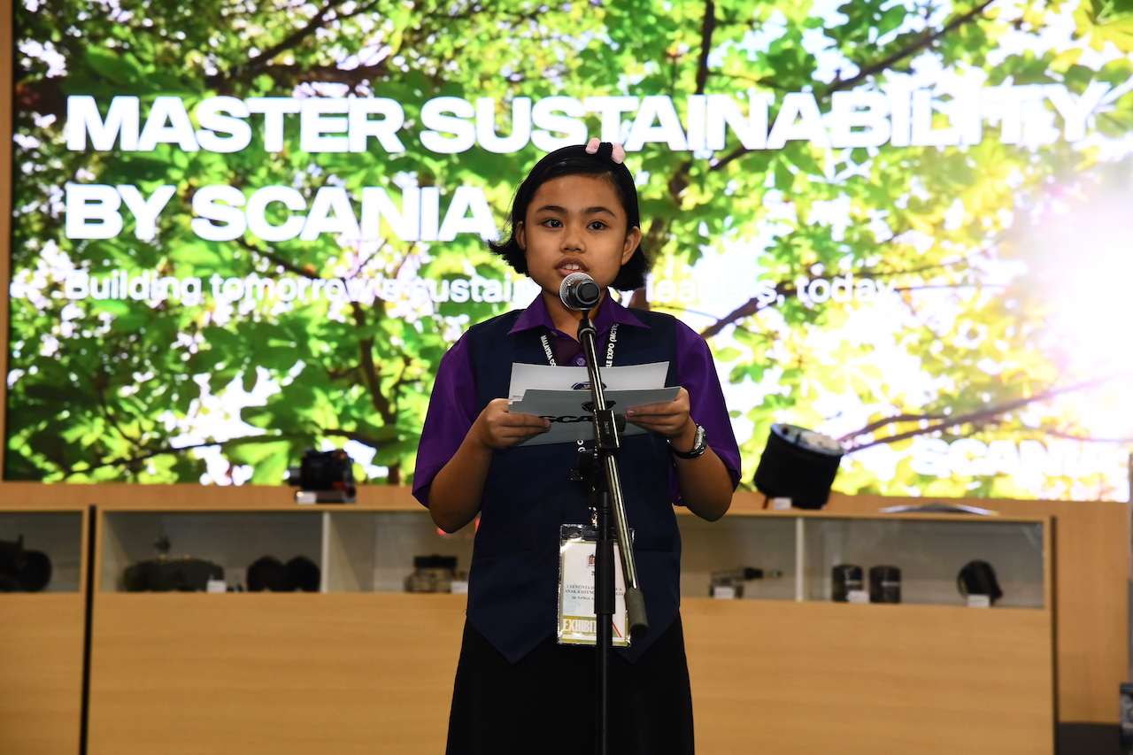 6- Lyentivia speaking on what sustainability means to children
