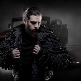 Designer and Truck Builder Create Jacket Made of Recycled Fan Belts