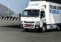World's first all‑electric light-duty truck, the FUSO eCanter