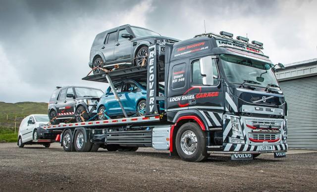 Volvo car carrier_loch-shiel-garage