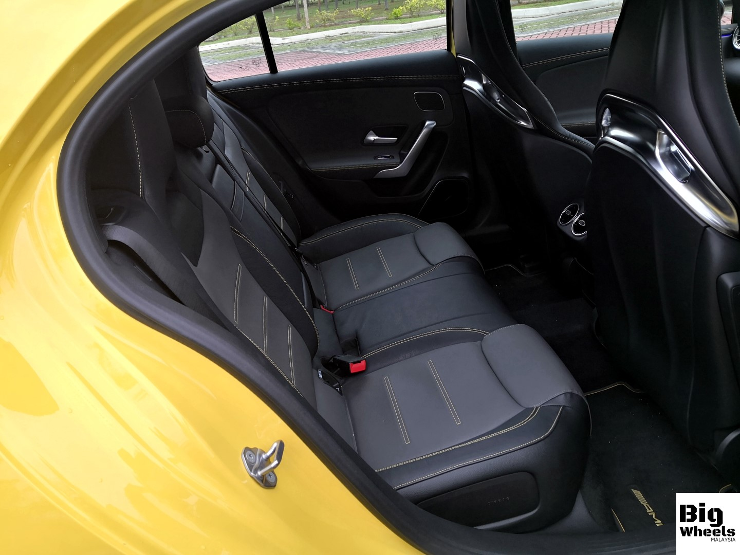 mercedes-amg a45s rear seats