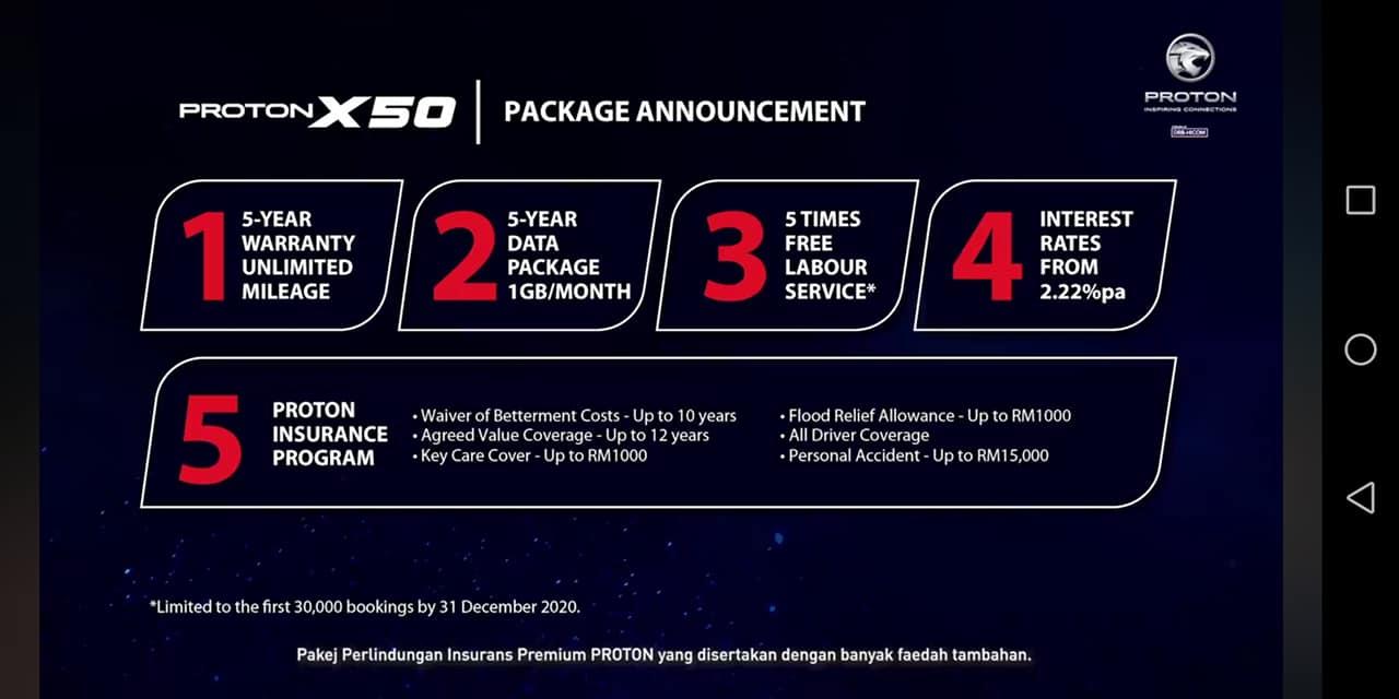 proton x50 price