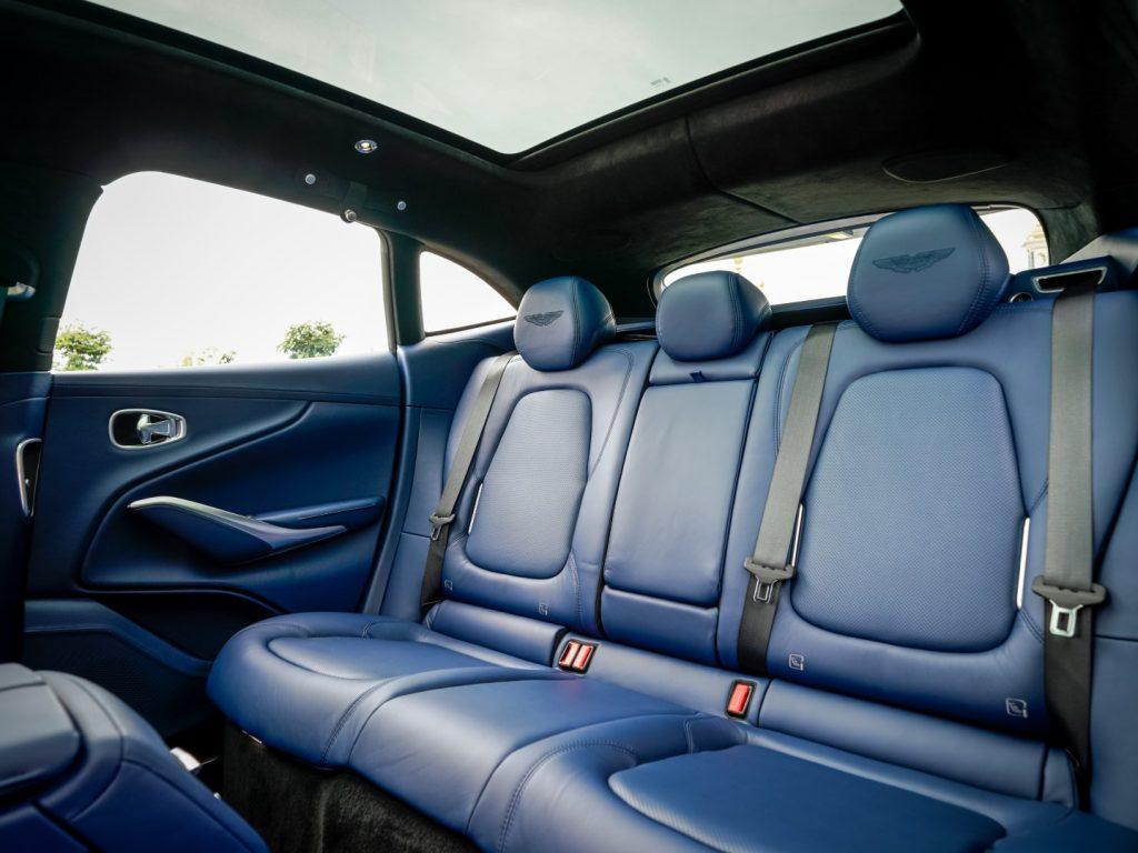 aston martin dbx rear seats