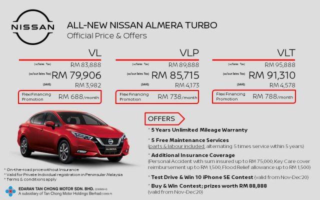 nissan almera price malaysia