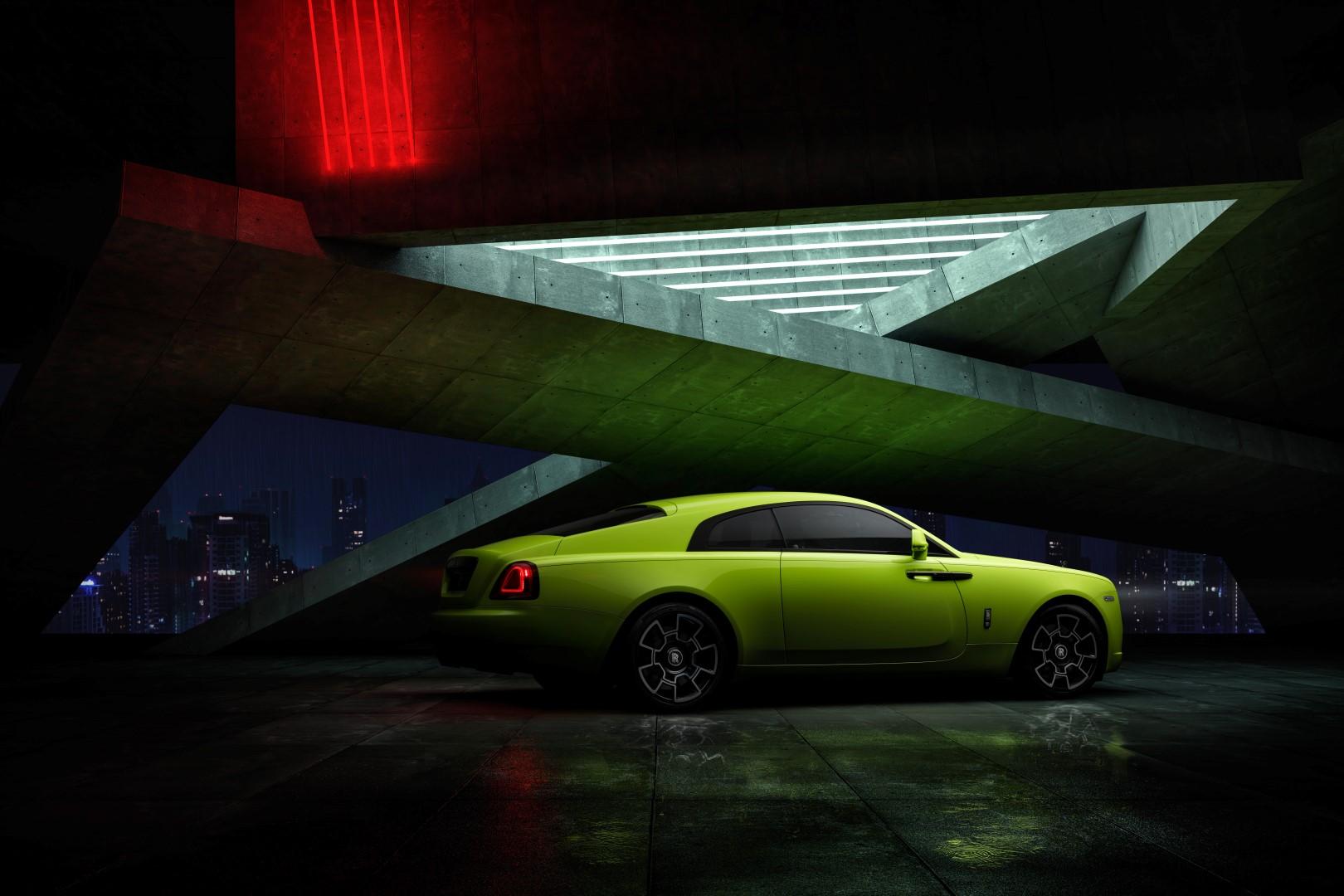 Rolls-Royce Wraith Black Badge Neon Nights