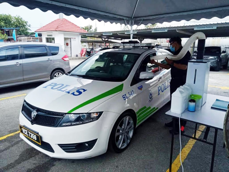 Setia Gemilang Proton 4S Centre sanitisation