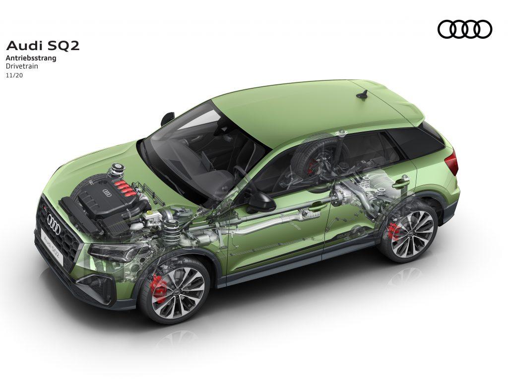 2020 Audi SQ2 powertrain