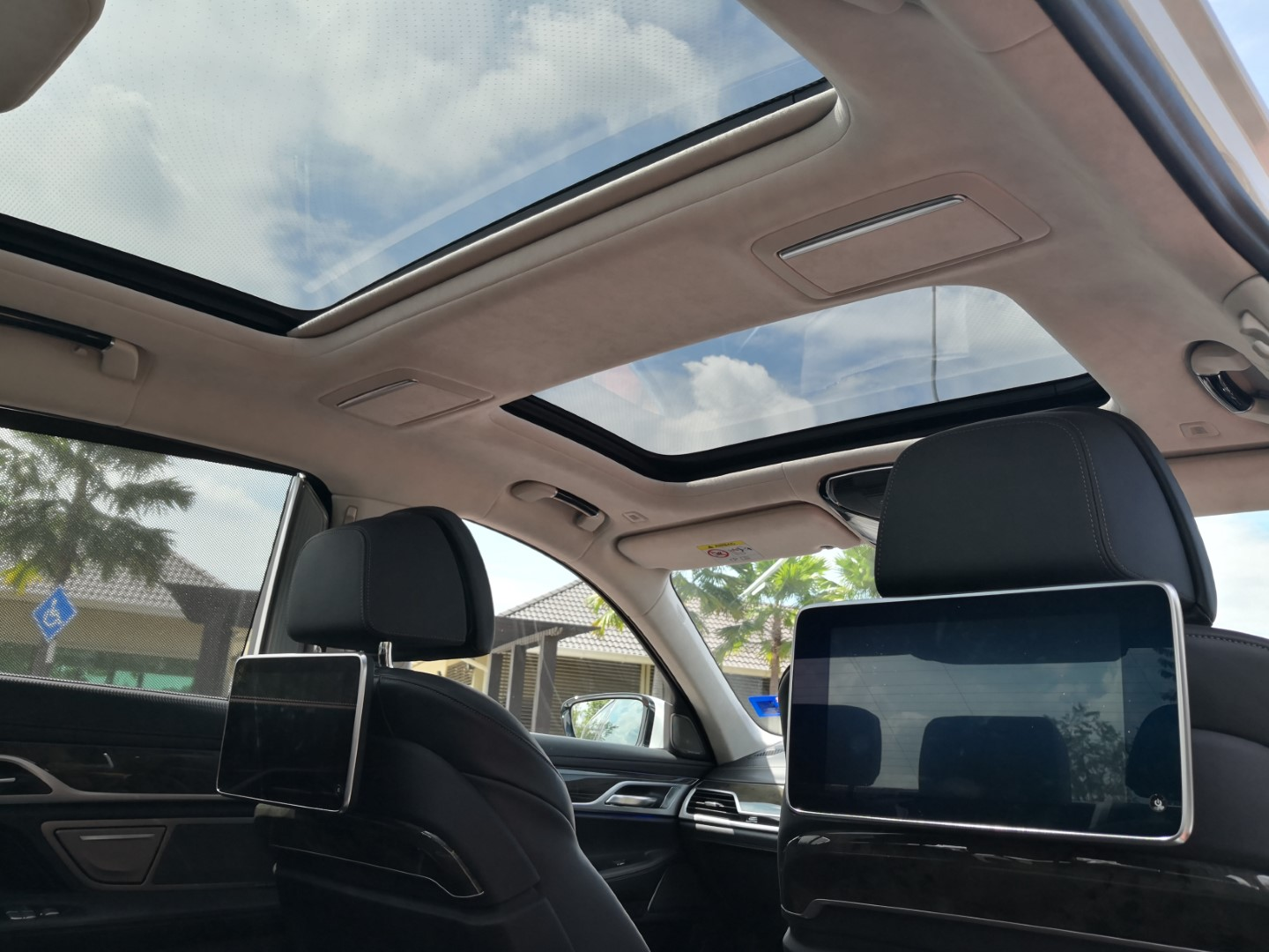 bmw 740le sunroof