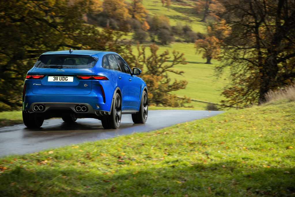 jaguar F-Pace SVR rear