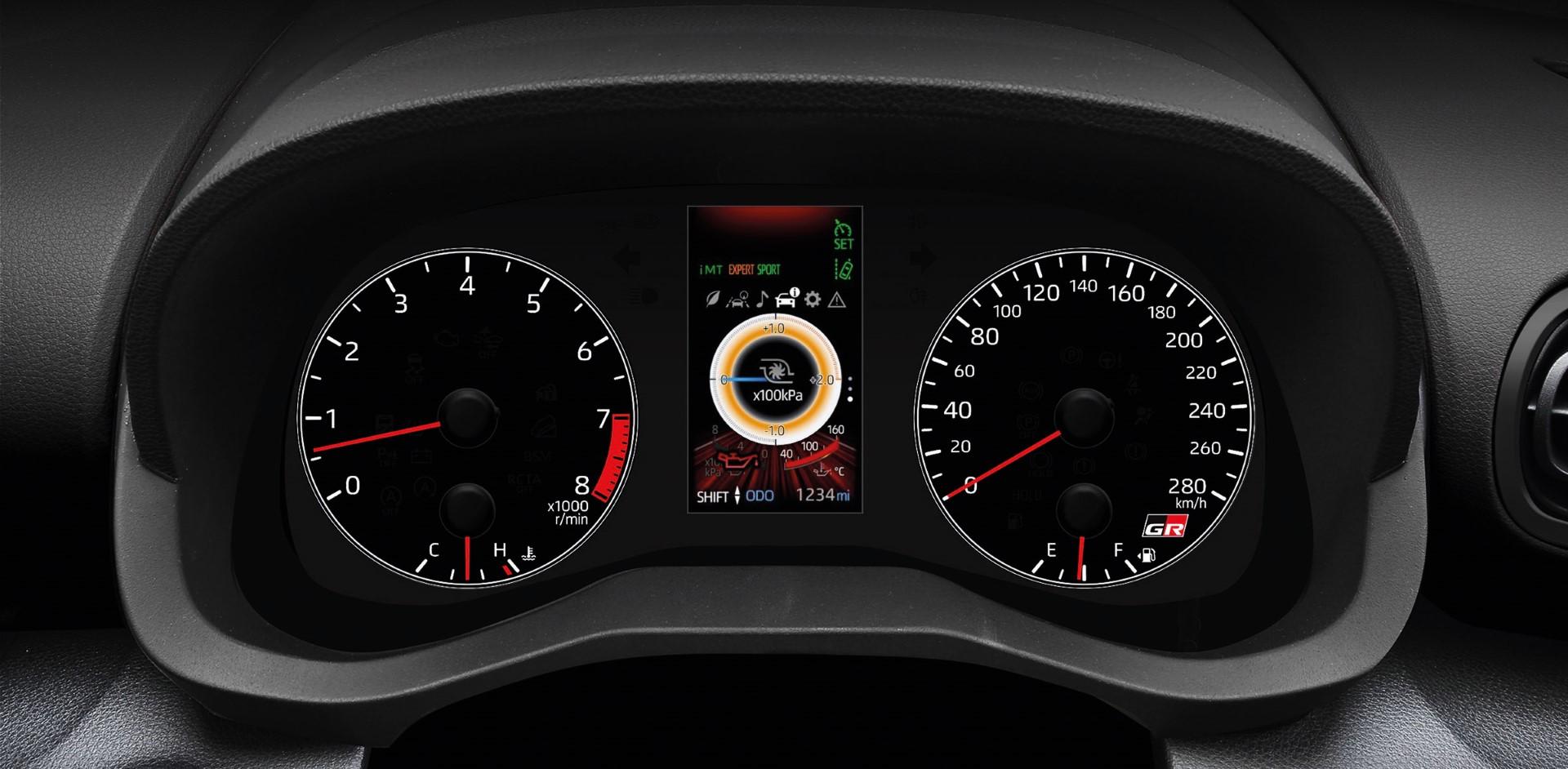toyota gr yaris speedometer