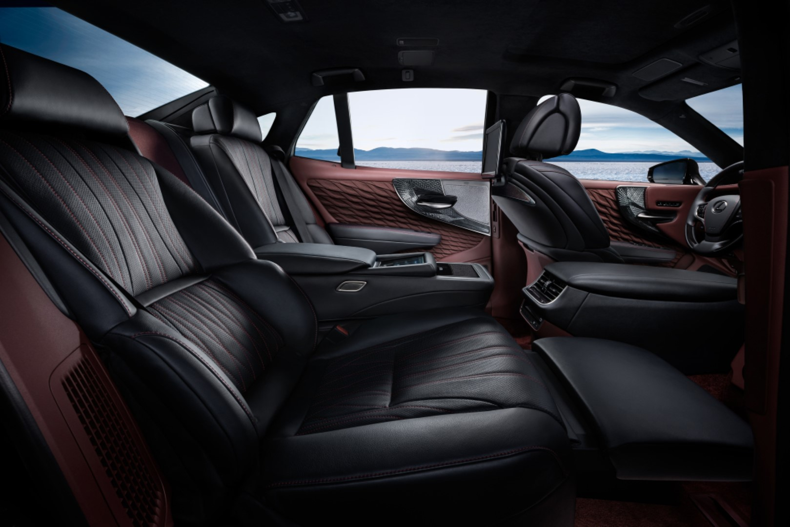 2021 lexus ls500 rear seats