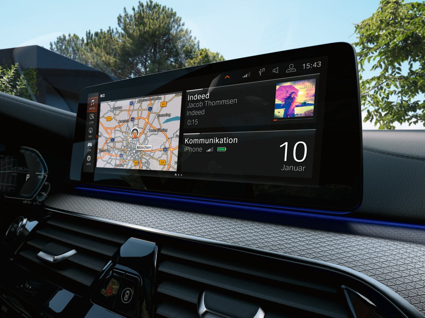 2021 bmw 5 series infotainment