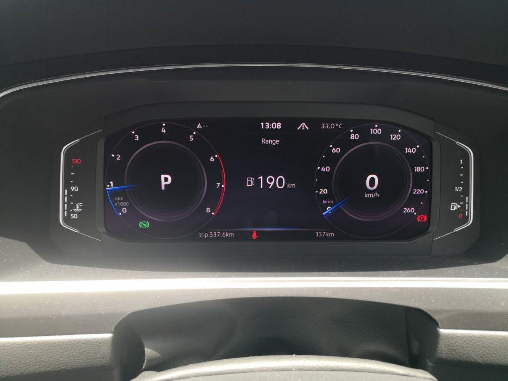 volkswagen tiguan allspace r-line speedometer