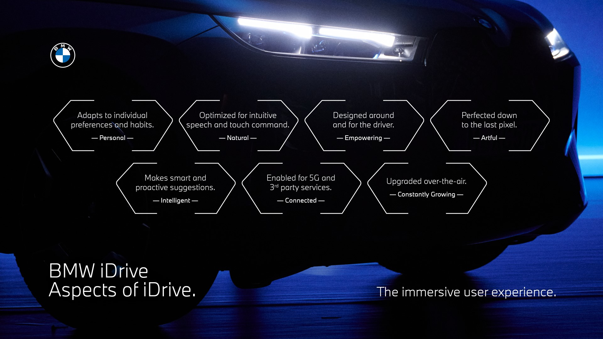All-new BMW iDrive system