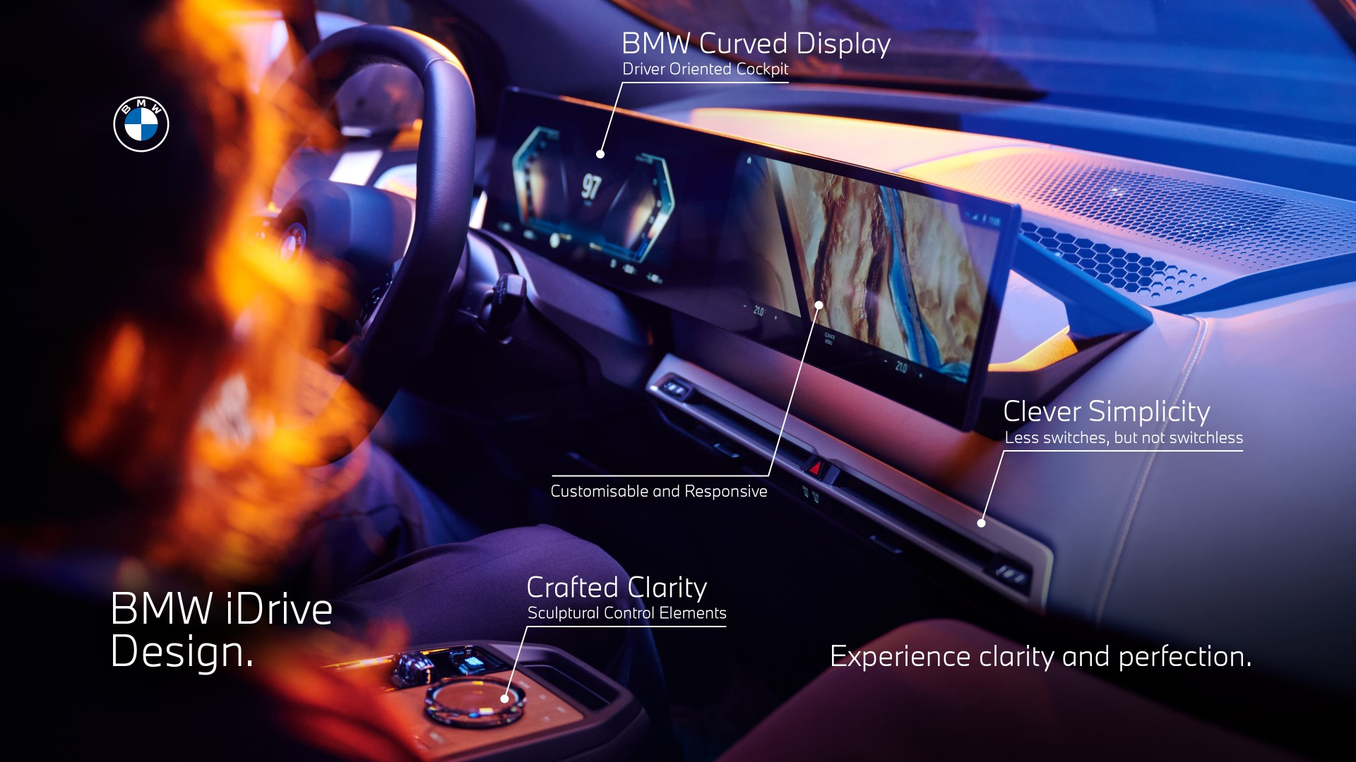 BMW iDrive Curved Screen