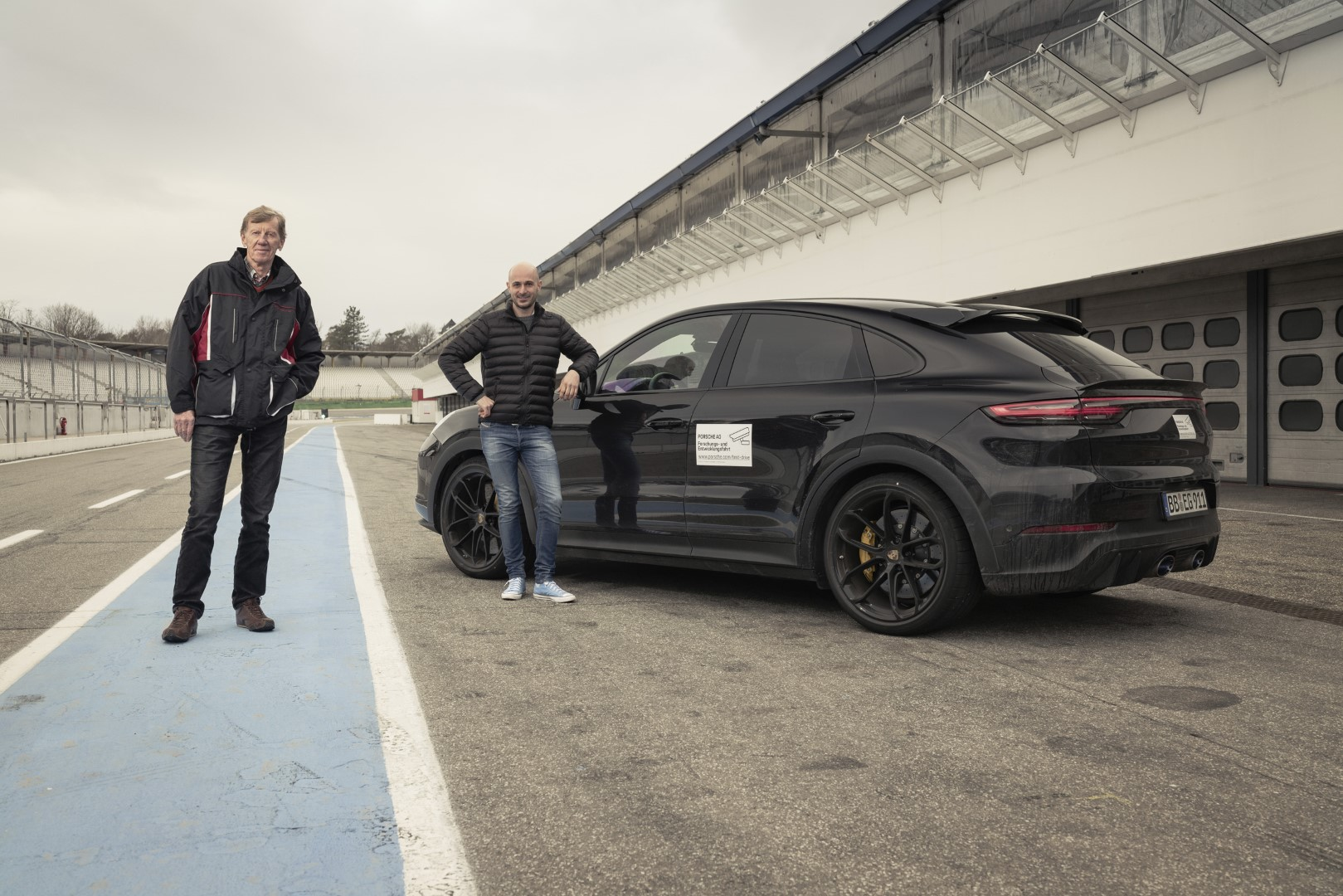 New Porsche Cayenne Coupe with Walter Rohrl