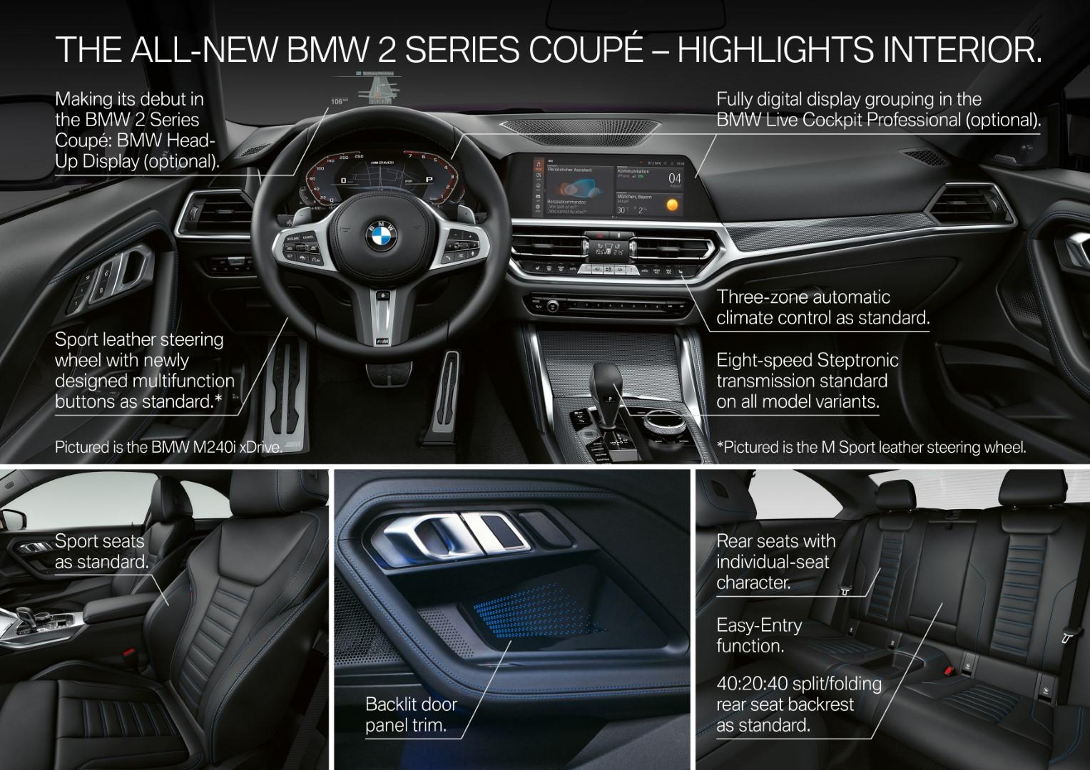 BMW 2 Series Coupe interior