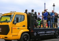 "Charge  ""smart electric trucks"" for Formula E"