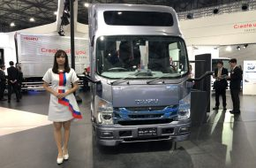 Isuzu Elf electric truck at Tokyo Motor Show 2019