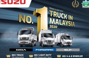 Isuzu Malaysia Records Highest Market Share Ever in 2020