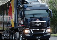 Red Bull Racing Jamie Whincup's Race Team Moved By MAN Truck