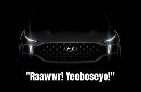 Hyundai Teases New Santa Fe, Thor Approves