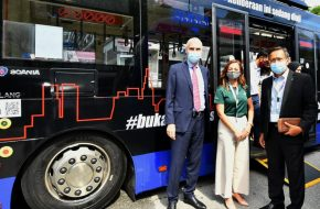 Scania Biofuel and Electric Buses Begin Testing in Johor