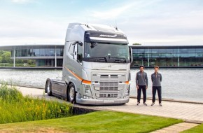 McLaren F1 team uses Volvo for all its haulage